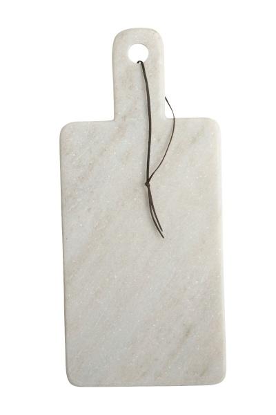 Fasjonable House Doctor Skjærebrett marmor hvit, 18x40cm - litengave.no EV-99